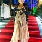 Veronica Rivalta indossa una delle sue creazioni