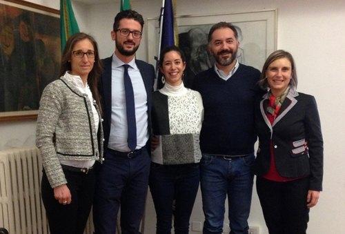 Vito Bellomo e Fabio Raimondo con Veronica Cella, Silvia Ruggiero e Ilaria Morosini