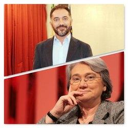 Il sindaco di Melegnano Vito Bellomo e Rosy Bindi, presidente commissione antimafia