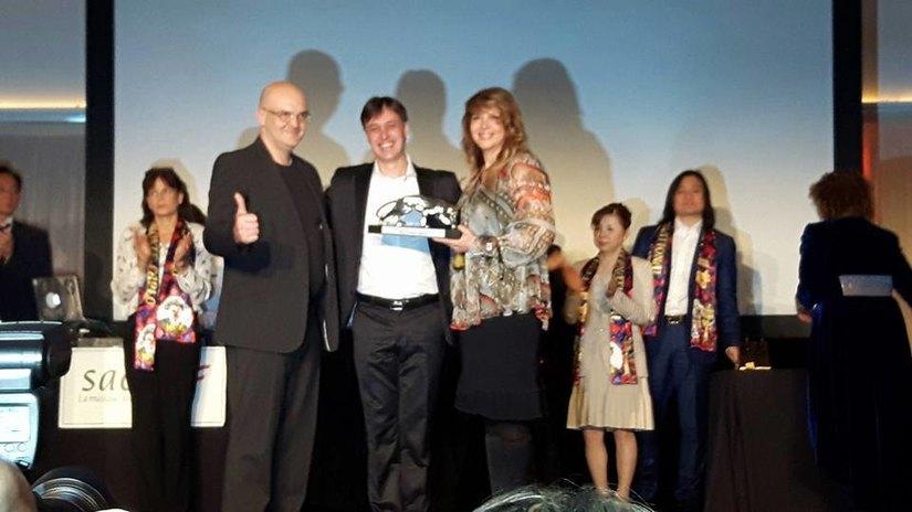 Premio speciale Nando Orfei, con i figli Paride e Ambra