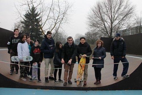 Il taglio del nastro dello Skate Park a San Donato Milanese