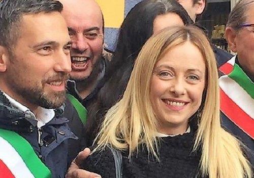 Franco Lucente con Giorgia Meloni