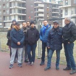 La delegazione dei residenti del nuovo quartiere di Bellaria