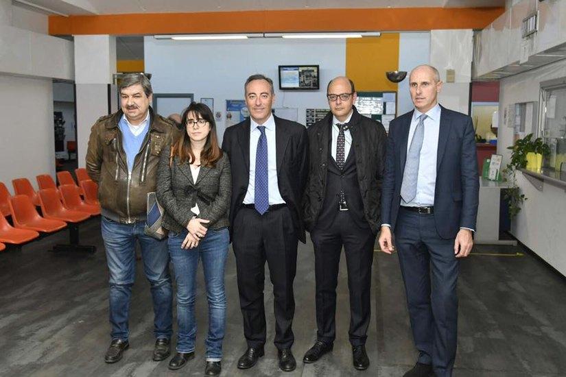 La visita al Poliambulatorio di via Matteotti