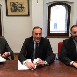 Da sinistra  Mario Alparone, Giulio Gallera, Vito Bellomo