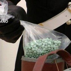 Le pastiglie di ossicodone sequestrate