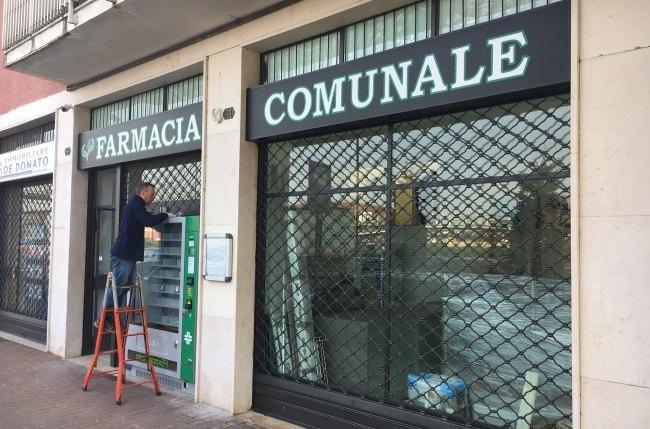 La vetrina della nuova sede