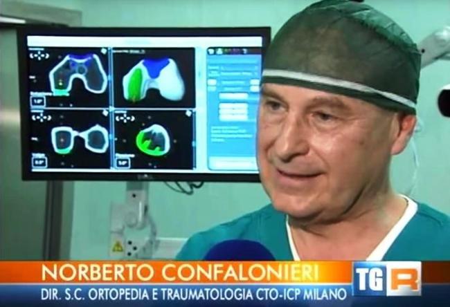 Norberto Confalonieri in un fermo immagine tratto da un'intervista al Tgr Lombardia