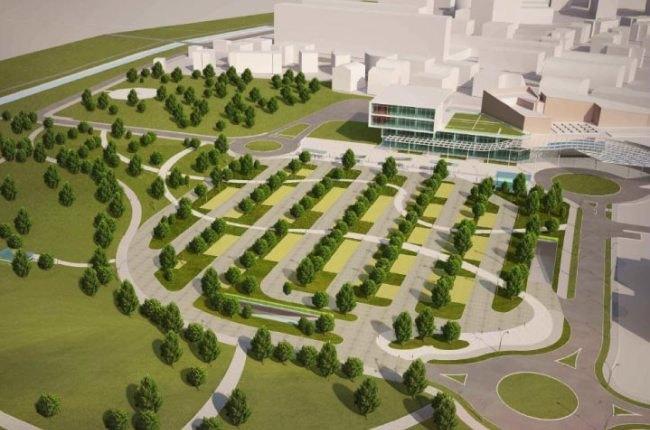 Il progetto del nuovo parco che sorgerà alle spalle del Policlinico