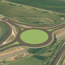 Il progetto per la rotatoria di intersezione tra Binasca  e svincolo autostradale