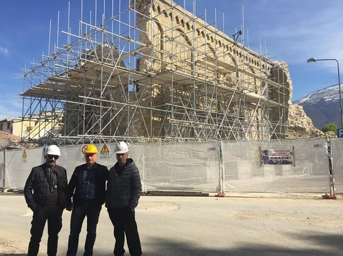 Raffaele Brattoli ad Amatrice con Maurizio Ripa e Vincenzo Candiano,