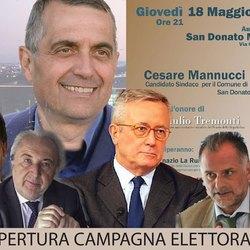 Cesare Mannucci con gli ospiti d'eccezione