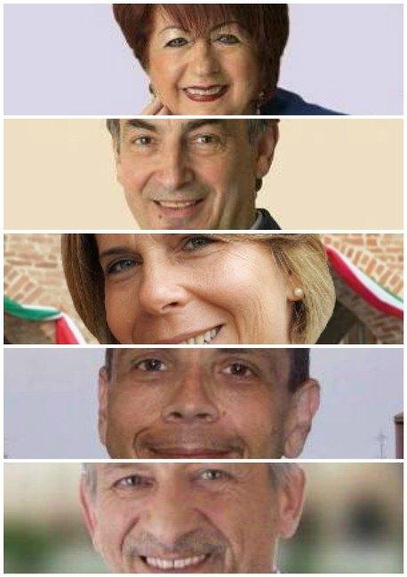 Dall'alto: Raffaela Caputo, Rodolfo Bertoli, Lucia Rossi, Giuseppe Di Bono, Giuseppe Marsico