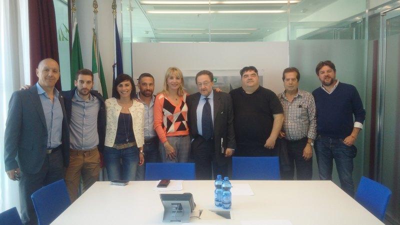 La delegazione di FDI-AN ricevuta in Regione