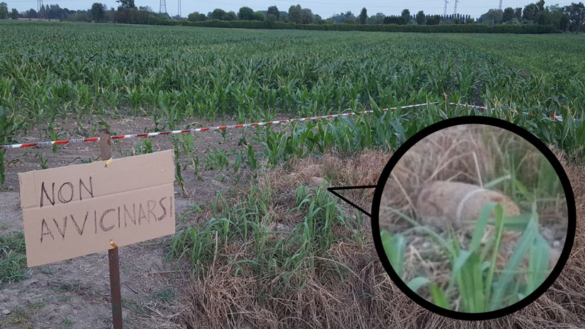 Il Campo dove è stata ritrovata una granata