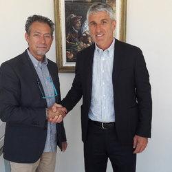 Il Sindaco Claudio Veneziano con l'amministratore della Società  Sporting Club Verona