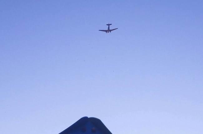 Il velivolo avvistato dai cittadini
