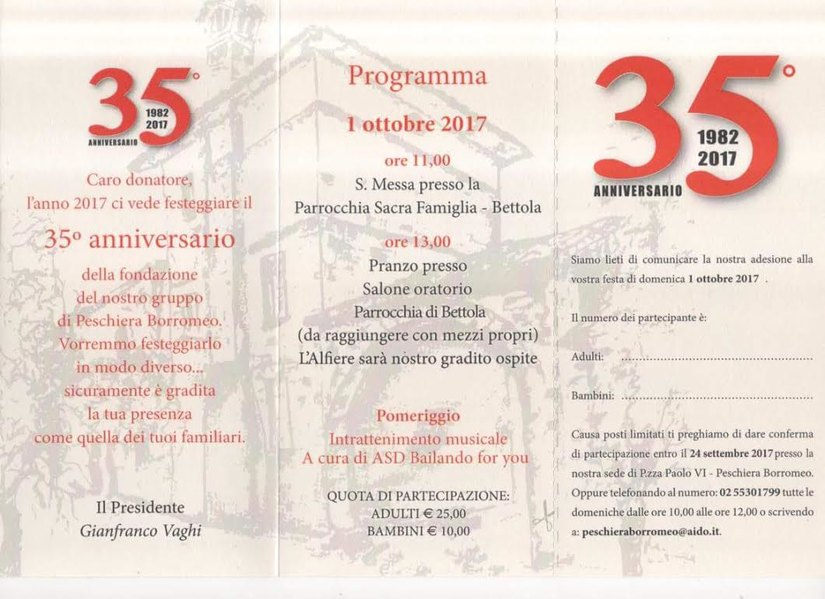 35° Anniversario Aido