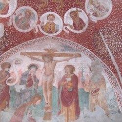 L'affresco custodito all'interno dell'Oratorio