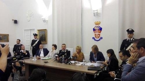 La conferenza stampa in Procura