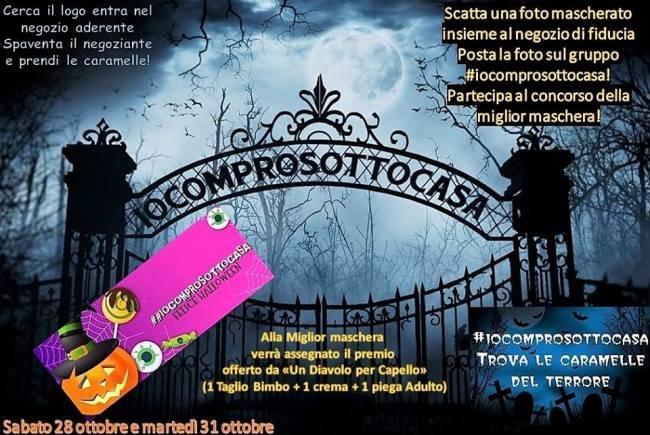 La locandina che illustra l'iniziativa di Halloween