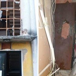 Parte dei danni provocati dall'esplosione del 10 ottobre