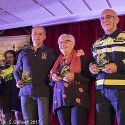 I tre cittadinini benemeriti, da sinistra Raffaele Brattoli, Benedetta Murachelli e Duilio Cavenago