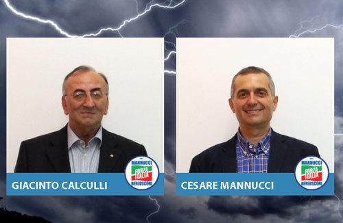 Due degli esponenti del gruppo Consiliare di Forza Italia