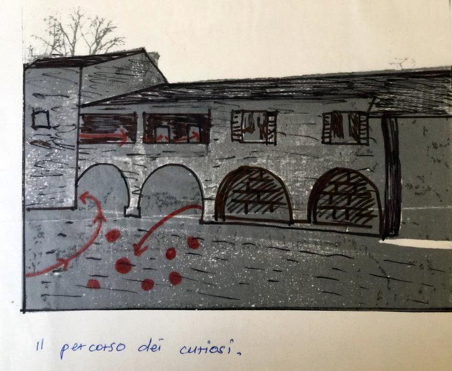 Piero Paolo:la piantina della fattoria per le riprese ...
