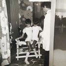Piero e Paolo durante la prova con il busto !