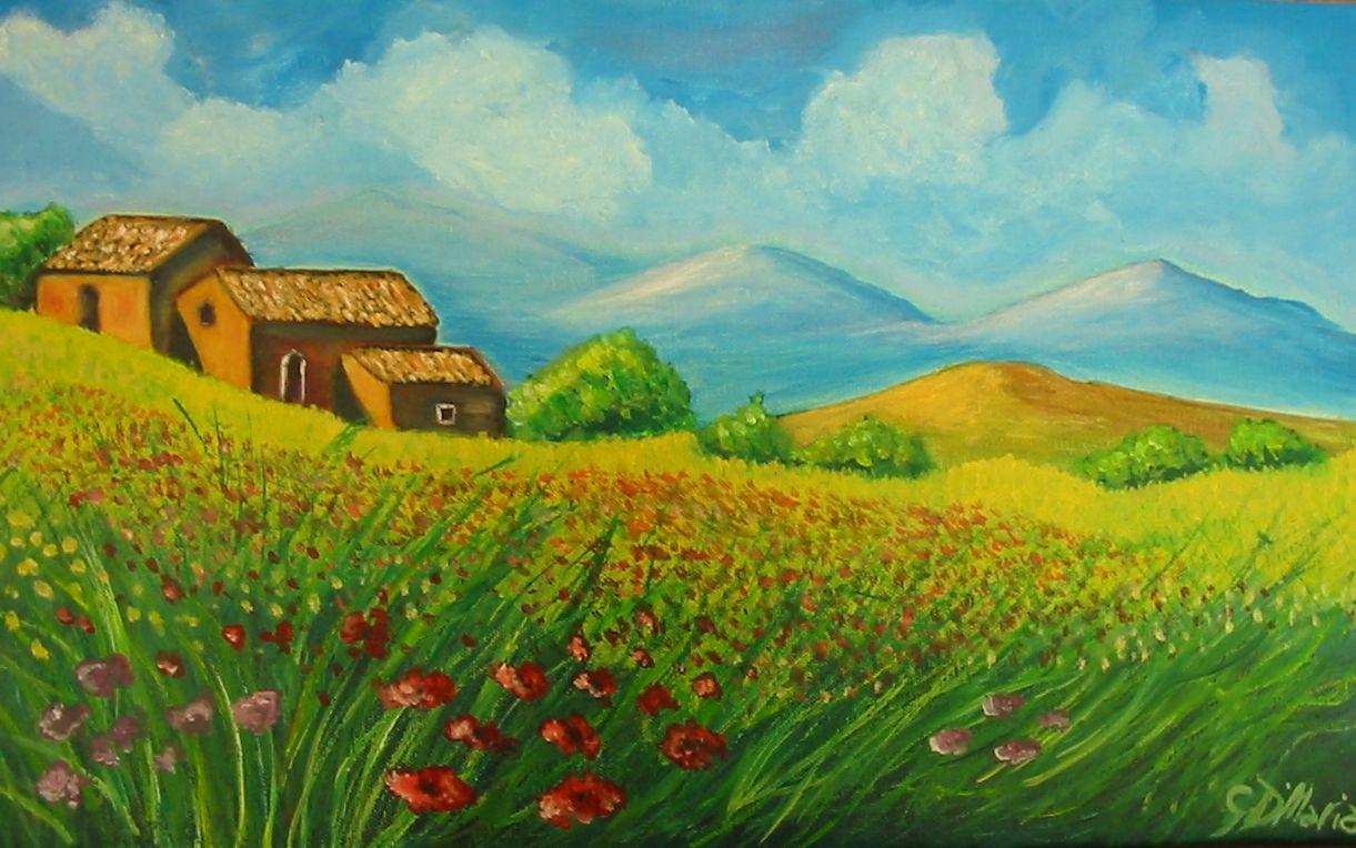 Unico disegni di paesaggi di collina facili colorati for Disegni di cabina di campagna