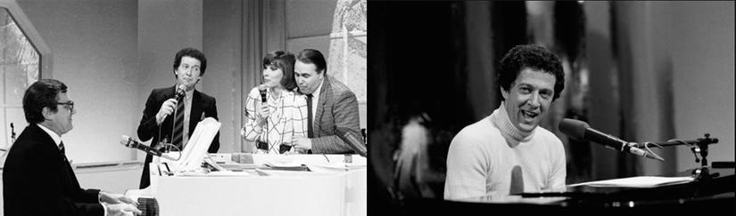 (a sinistra) Trasmissione dedicata a Lelio Luttazzi (al pianoforte) con Ivana Monti e Arturo Testa - 1976 (a destra) MUSICALMENTE - 1979