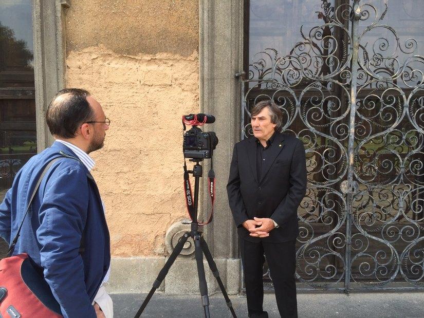 Il presidente della Fondazione Versiera 1718 Maurizio Riva con Gualfrido Galimberti di Qui Brianza