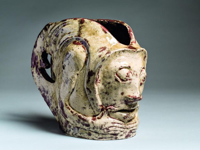Paul Gauguin, Vaso a forma di maschera grottesca, 1895 ca. Terracotta smaltata, cm 20 x 25 © Ny Carlsberg Glyptotek, Copenhagen /Photo: Ole Haupt