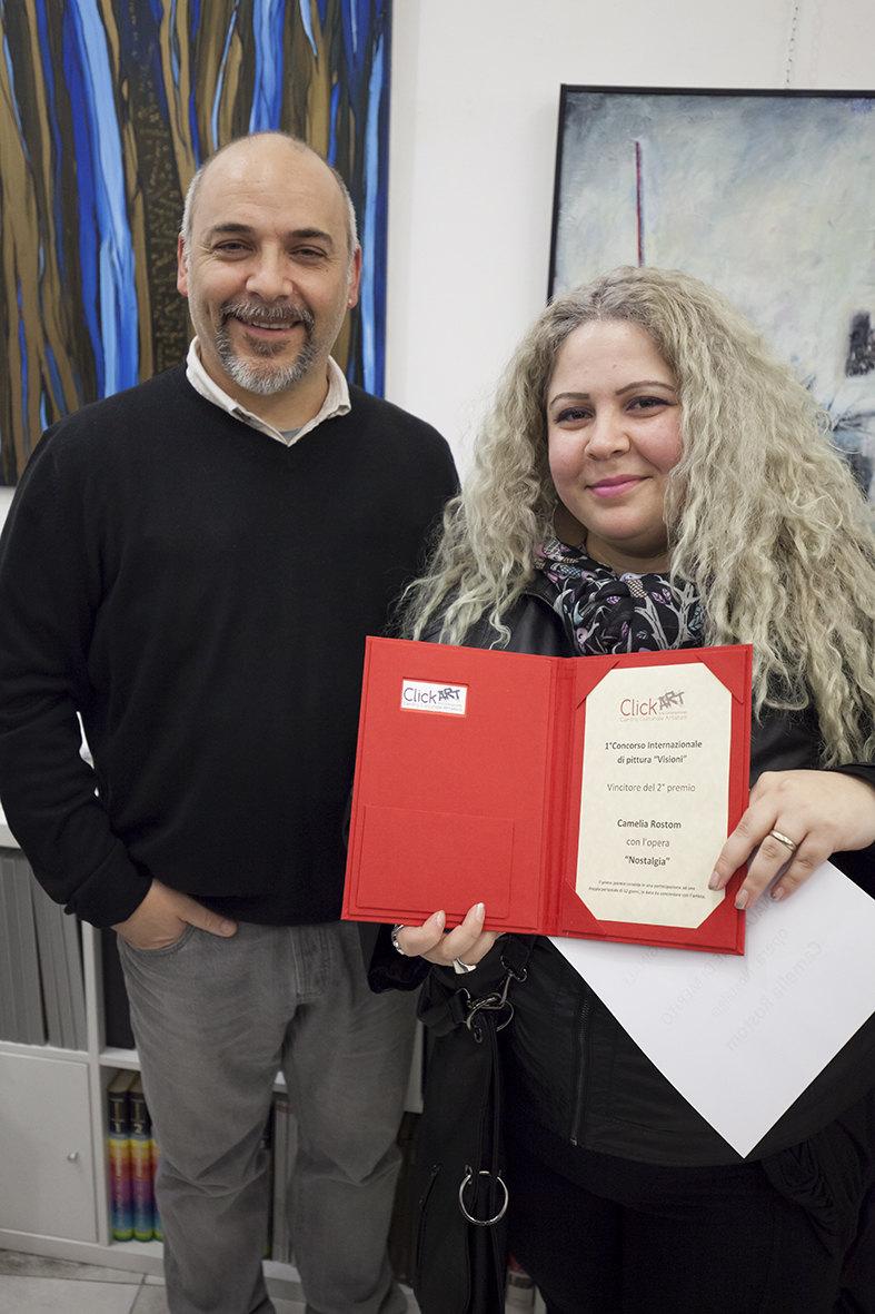 Camelia Rostom, vincitrice del secondo premio