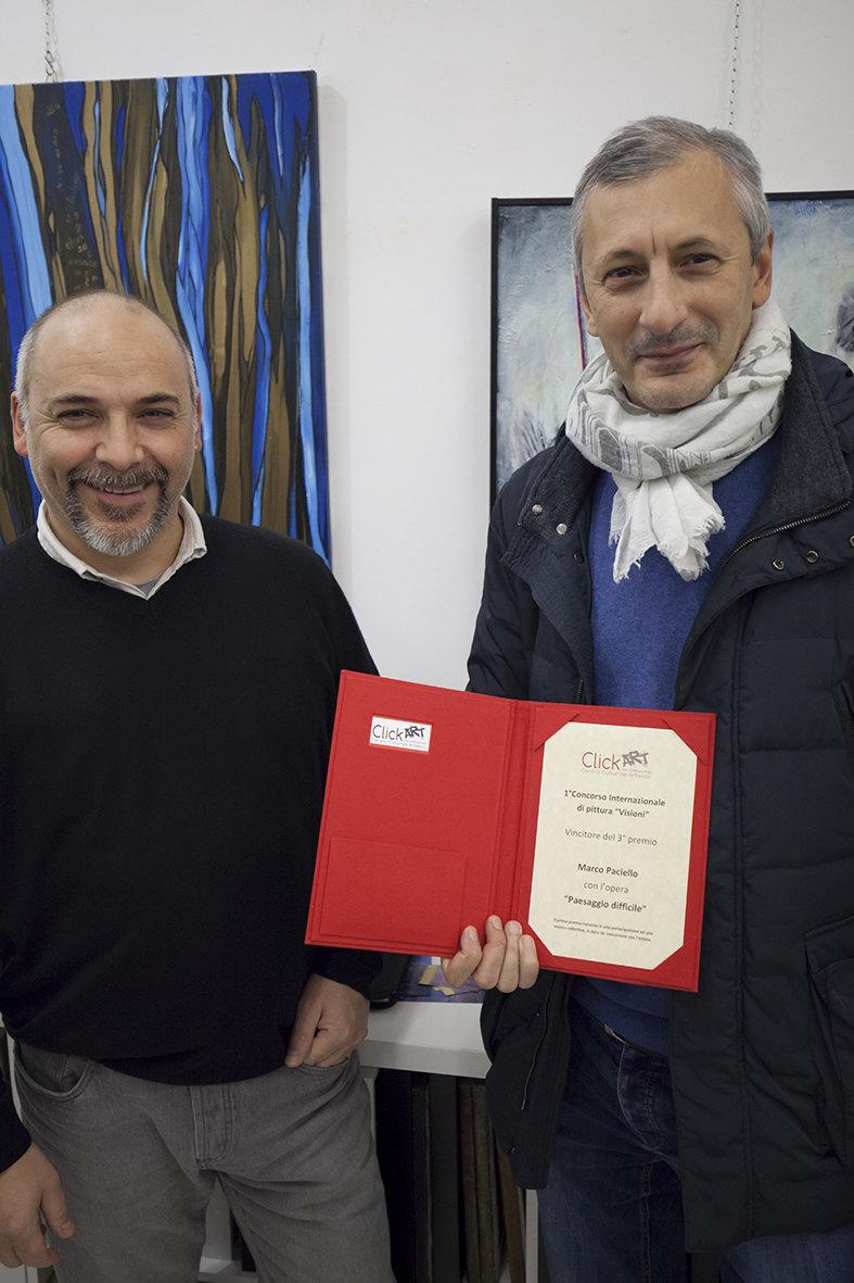 Marco Paciello, vincitore del terzo premio