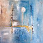 Luigi Profeta, Un nuovo inizio, tecnica mista su tela, 80x80 cm