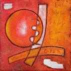 Luigi Profeta, Passione, tecnica mista su tela, 30x30 cm