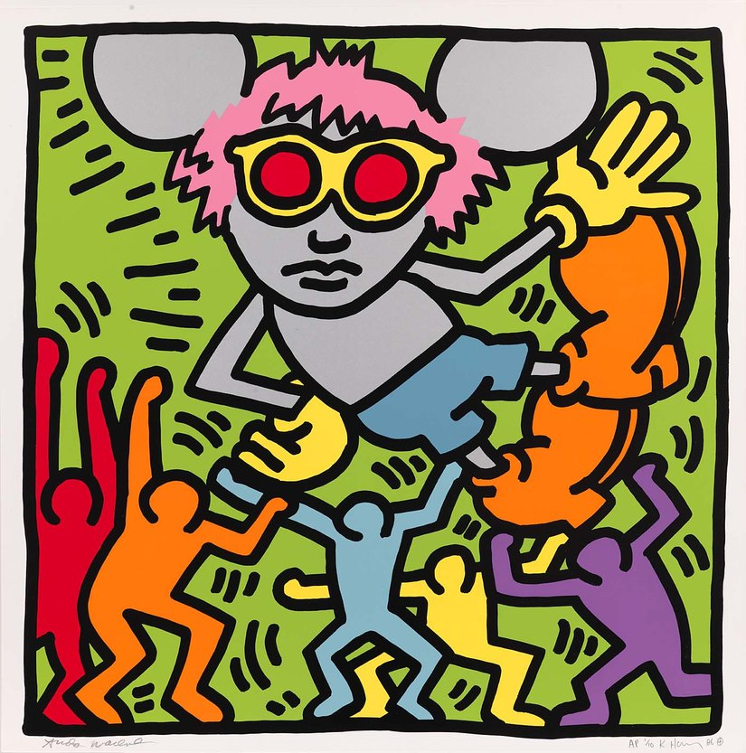 HARING, Andy mouse, 1986