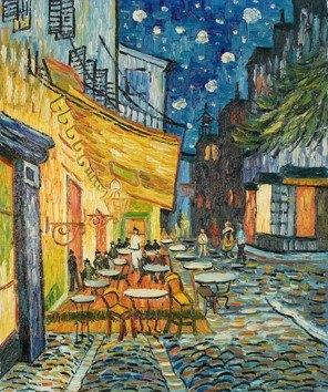 Terrazza del caff alla sera vincent van gogh j art design srl - Decor art quadri bari ...