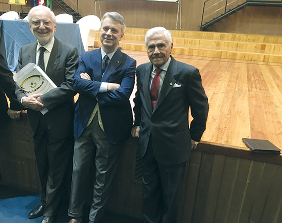Luigi Vergani, Alberto Mattioli e Mario Giambone.