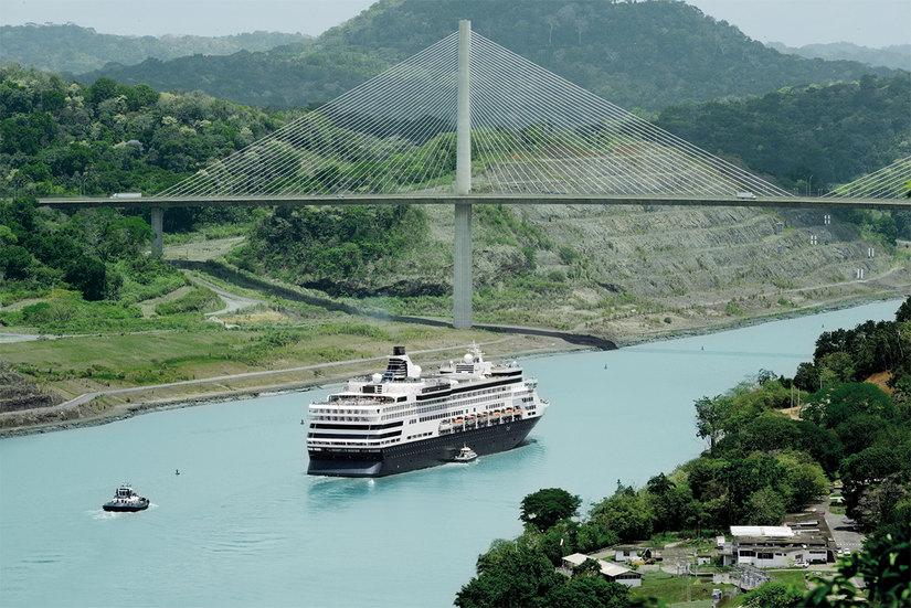 Un tratto del Canale di Panama.