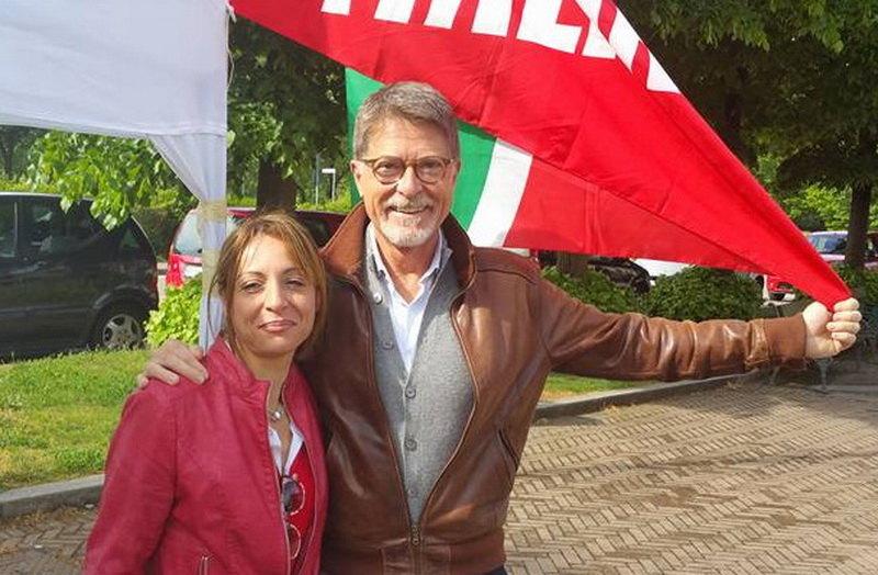 Barbara Tornatore con Mario Orfei