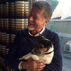 Mario Orfei con Valvola, il suo Jack Russel