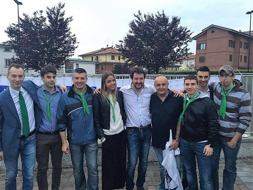 I componenti della sezione peschierese di Lega Nord
