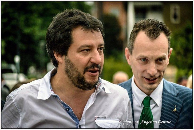 Riccardo Pase e Matteo Salvini