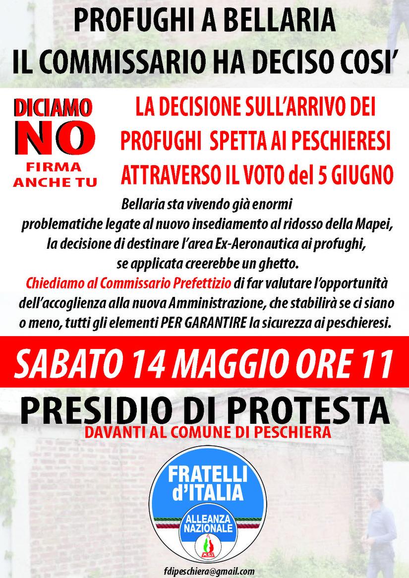 il flyer della protesta