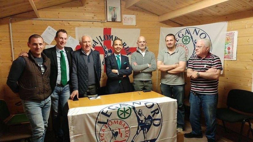 La conferenza stampa nella sezione della Lega Nord