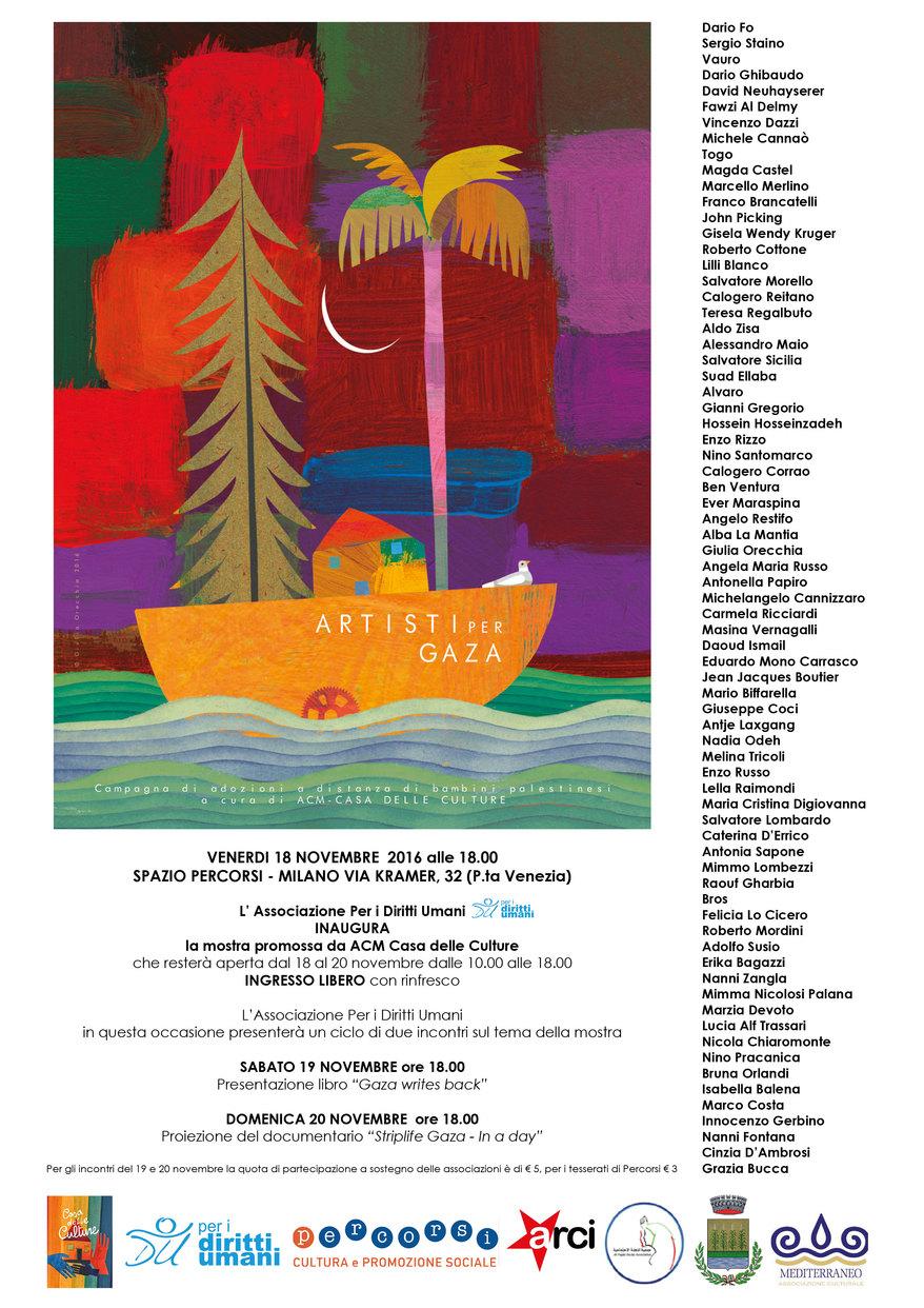 Manifesto dell'evento milanese allo spazio PERCORSI - via Kramer, 32 (Porta Venezia)