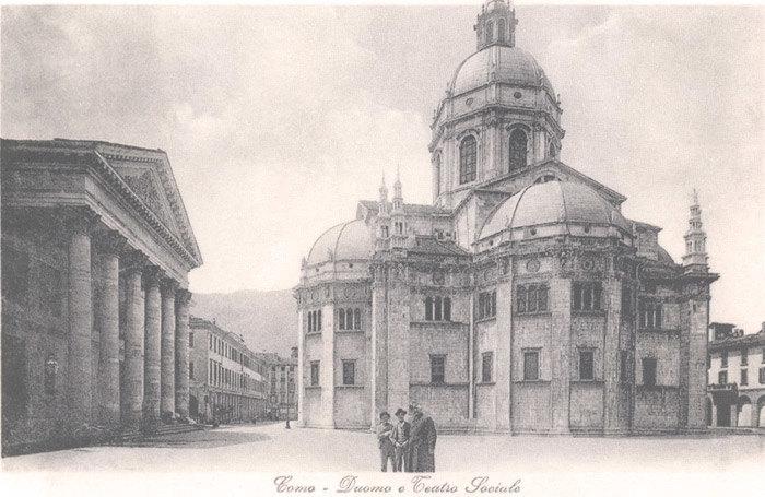 Como duomo nel 1945 anno fondazione Federmanager Como